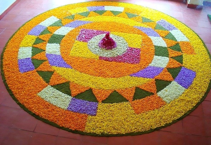 Amazing Rangoli Designs with Flowers