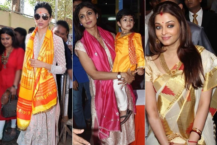 Bollywood Celebrities Dress up for Visiting temples