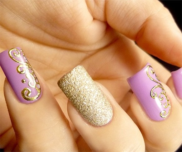 Golden Nails News 130 Beautiful Nail Art Designs Just For You Hello Pretty Nails Part 3