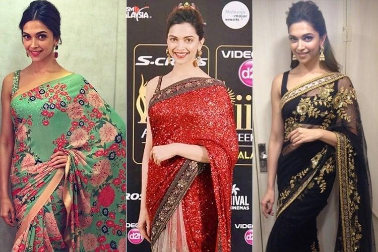 Deepika Padukone In Sabyasachi Mukherjee Sarees