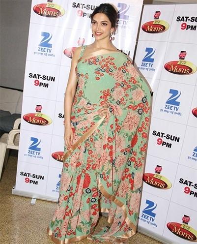Deepika Padukone in Floral Print Saree