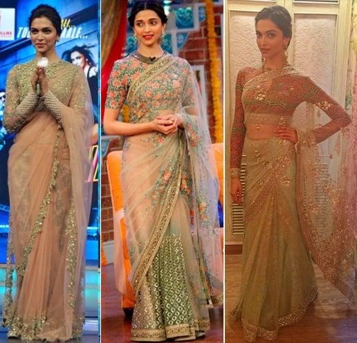Deepika Padukone In Sabyasachi Mukherjee And Looking Gorgeous!