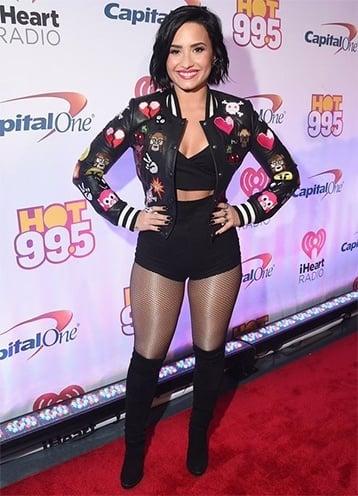 Demi Lovato R.I.P Fashion 2015