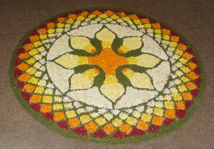 Design for Flower Rangoli