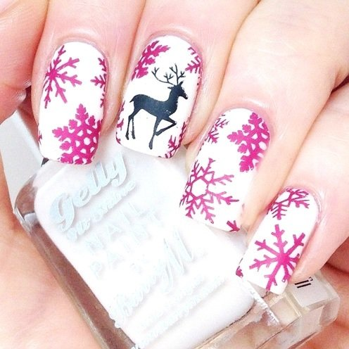 13 pretty and very cute nail art in bows dressing them up in white