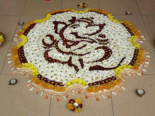 Ganesh Rangoli Flower