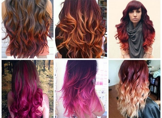 Hair Color style for long hair