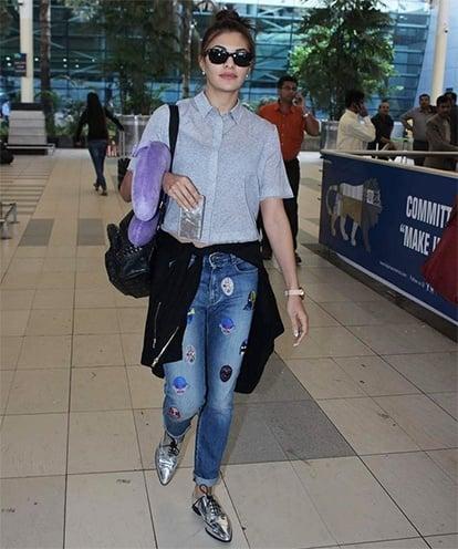 Jacqueline Fernandez Airport Style 2015