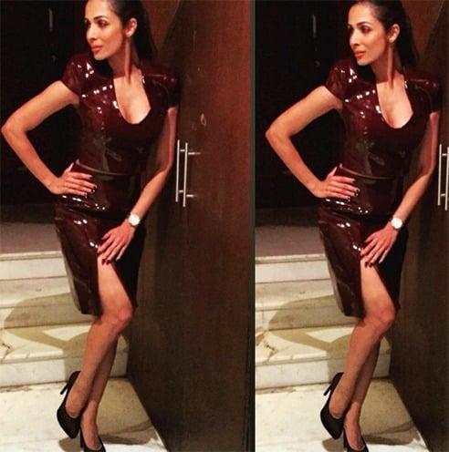 Malaika Arora Khan Wears Latex
