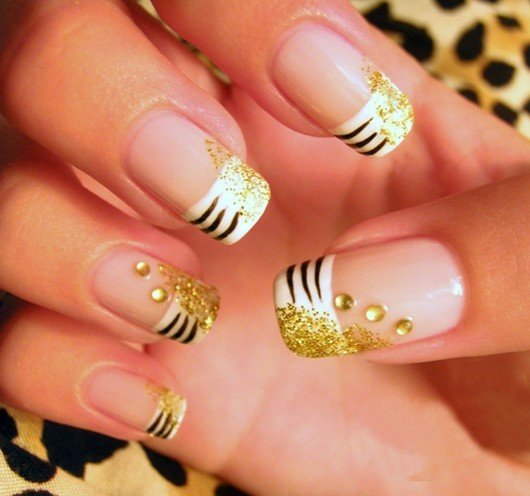 Toothpick Painted Nails Showing Face