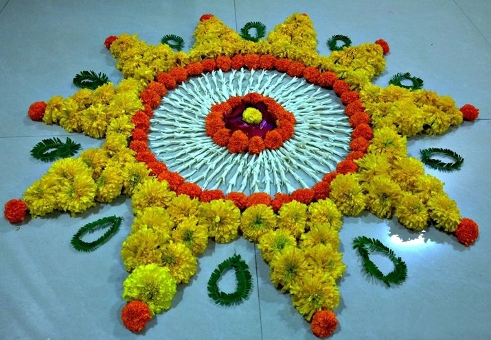 latest flower rangoli designs 2017 that will steal your