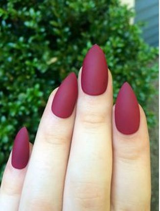 Stiletto gel nail design idea