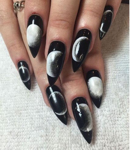 Stiletto nail designs for lady