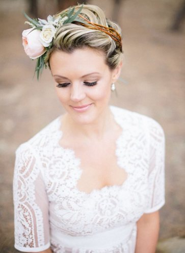 wedding hairstyles for short hair brides tying the knot