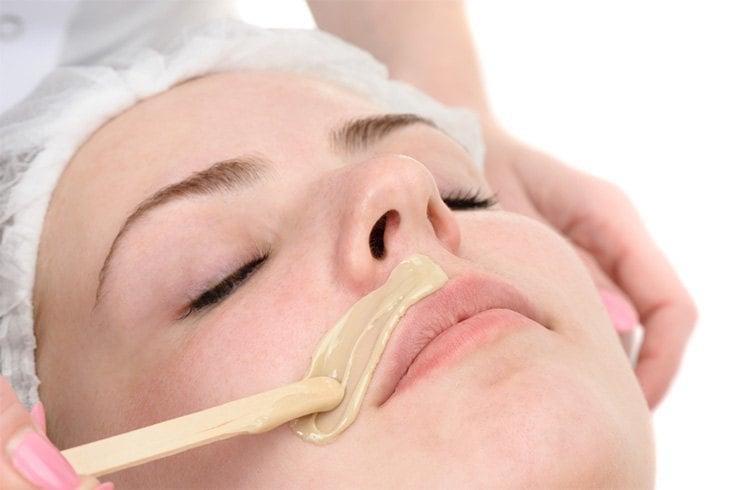 Facial wax technique