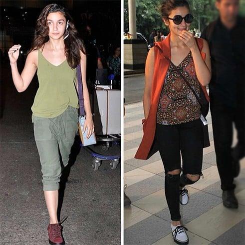 Alia Bhatt airport fashion