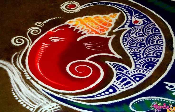 Best Ganesh Rangoli