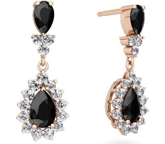 black onyx jewelry earrings