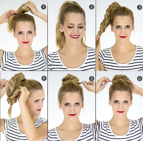 6 cool braided top knot bun styles to go for. Black Bedroom Furniture Sets. Home Design Ideas