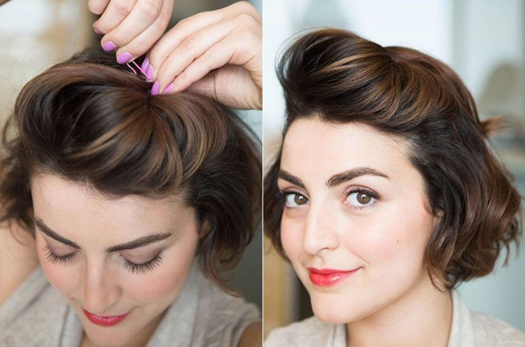 Hairstyles For Short Hair Knots : Wedding hairstyles for short hair brides tying the knot