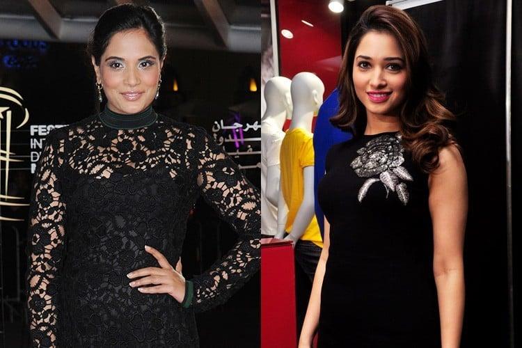 Celebrities in Black Dress