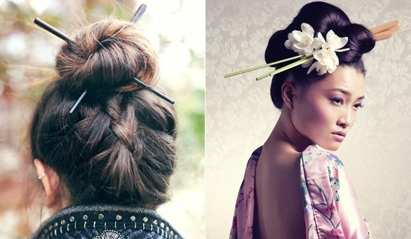 the gallery for gt japanese hairstyles with chopsticks