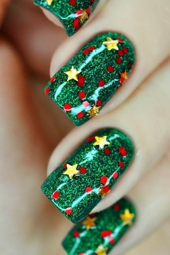 christmas Nail Art Photos