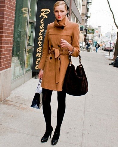Dark Nude Leather Coats