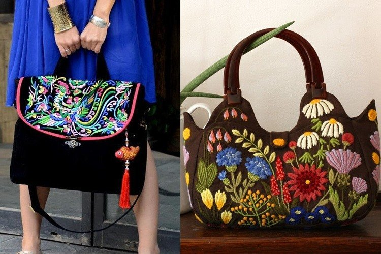 Handmade Embroidered Handbags