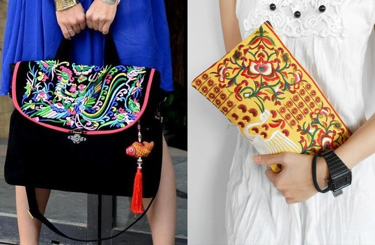 Embroidered Purses And Bags