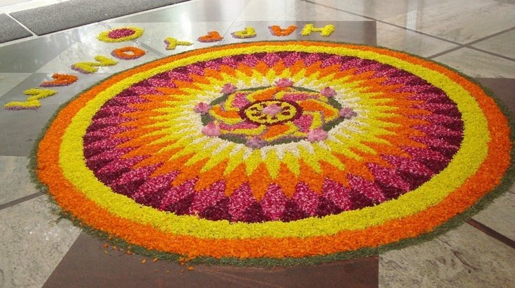 famous Flower Rangoli Designs