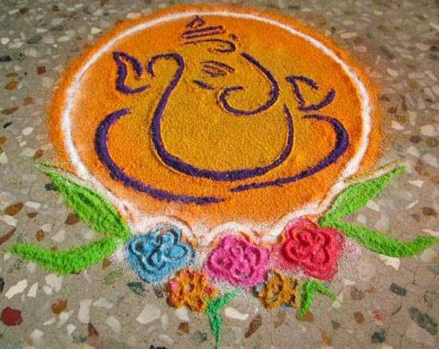 Ganesh Rangoli Patterns
