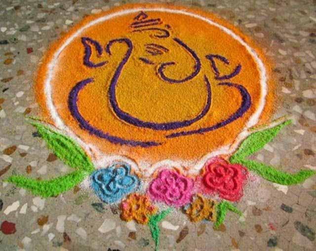 ganesha images for rangoli - photo #15