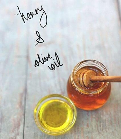 Honey and oilve oil