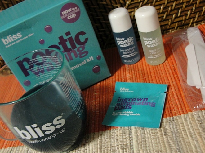 how to use bliss poetic waxing