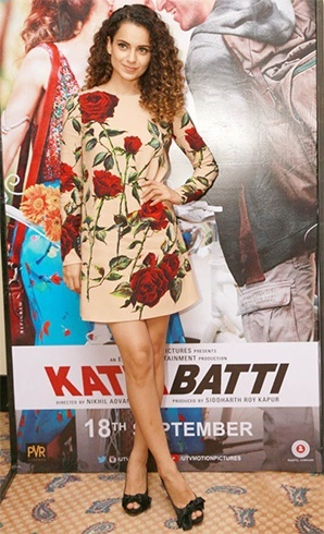 Kangana Ranaut in Dolce and Gabbana rose dress