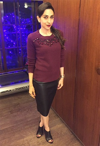 Karisma Kapoor in Burberry sweater