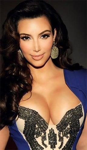 Kim- Kardashian peach lipstick