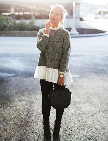 Knit Sweater And Jeggings