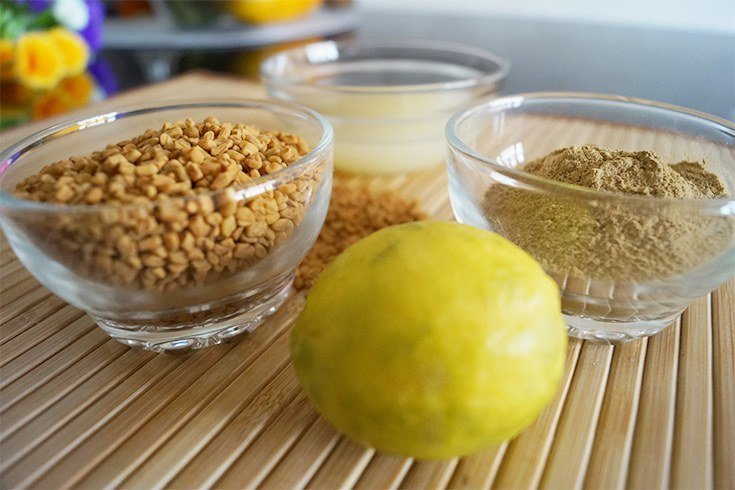 Lemon and fenugreek seeds