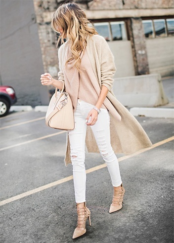 Long flowing pastel trench coat
