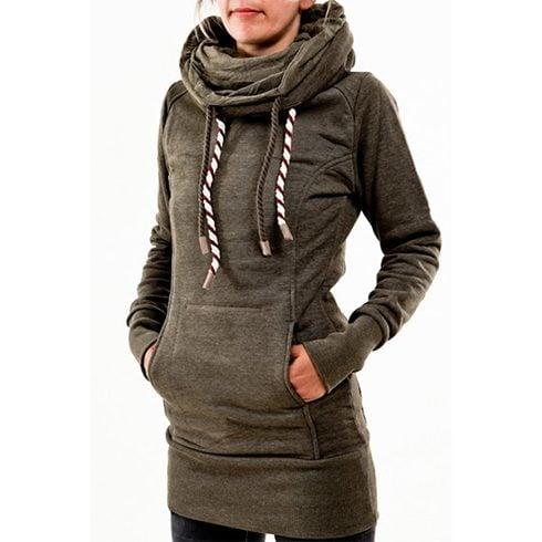 Long hooded sweatshirts