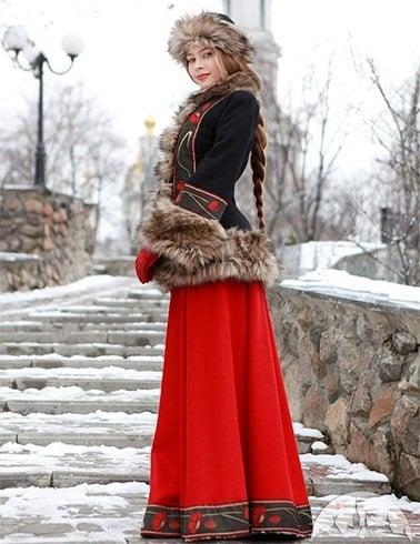 Long Russian skirts
