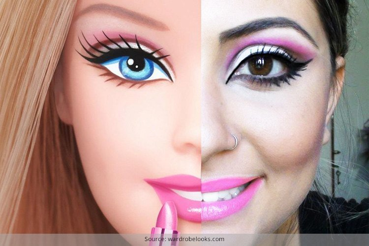 barbie doll makeup