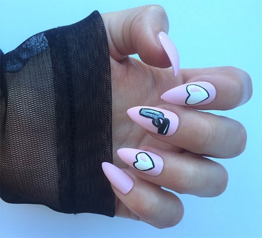 Matte stiletto nail designs