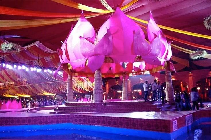 Ravi Pillai Daughter Wedding Mandapm