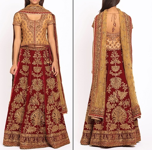 Ritu Kumar embroidered bridal lehenga