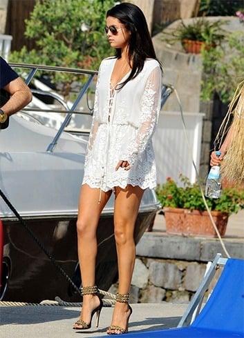 Selena Gomez in lace romper