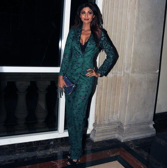 Shilpa Shetty in pant suit
