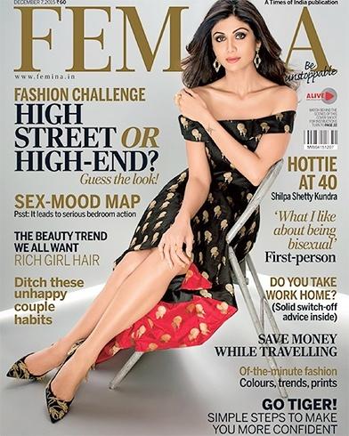 Shilpa Shetty on Femina